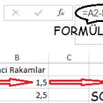 Excel_Çıkarma_1