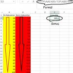 Excel_Çıkarma_2