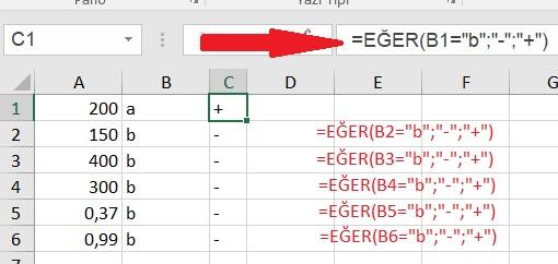 Excel Cevap