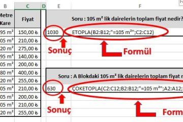 Excel ÇOKETOPLA (Sumifs) Fonksiyonu Kullanımı Resimli Anlatım 16