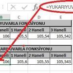 Excel'de Yuvarla ve Yukarıyuvarla Fonksiyonu Yani Sayının Ondalık Kısmını Azaltma Resimli 5