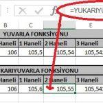 Excel'de Yuvarla ve Yukarıyuvarla Fonksiyonu Yani Sayının Ondalık Kısmını Azaltma Resimli 7