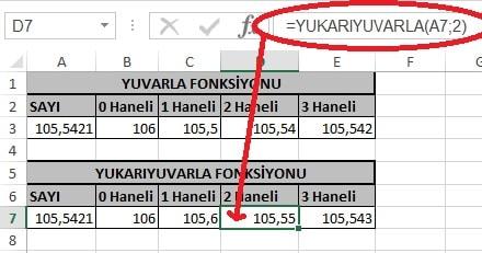 Excel'de Yuvarla ve Yukarıyuvarla Fonksiyonu Yani Sayının Ondalık Kısmını Azaltma Resimli 38