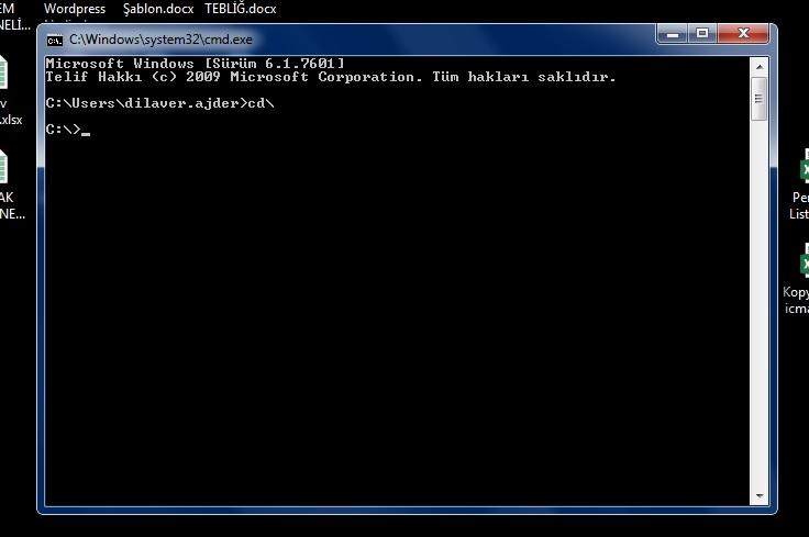 CMD - MS DOS (Microsoft Disk Operation System) Komut Ekranı Nasıl Açılır 1