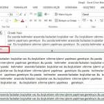Word'de veya Excel'de Fazladan Oluşan Boşlukları Temizleme Silme Excel Kırpma Fonksiyonu 5