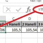 Excel'de Yuvarla ve Yukarıyuvarla Fonksiyonu Yani Sayının Ondalık Kısmını Azaltma Resimli 1
