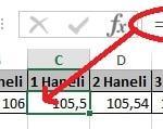 Excel'de Yuvarla ve Yukarıyuvarla Fonksiyonu Yani Sayının Ondalık Kısmını Azaltma Resimli 2
