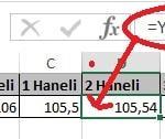 Excel'de Yuvarla ve Yukarıyuvarla Fonksiyonu Yani Sayının Ondalık Kısmını Azaltma Resimli 3