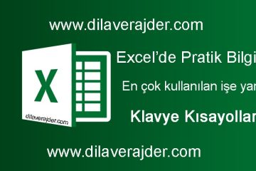 Excel'e yeni başlayanlar için kolay pratik bilgiler, püf noktaları ve klavye kısayolları 37