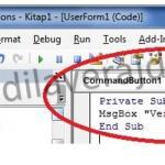 Excel VBA (Makro) MsgBox (Mesaj Kutusu) Adım Adım Detaylı Kullanımı 2