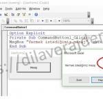 Excel VBA (Makro) MsgBox (Mesaj Kutusu) Adım Adım Detaylı Kullanımı 22