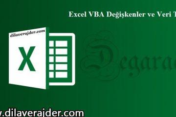 Excel VBA'da Kullanılan Değişkenler, Veri Tipleri ve Sabitler(Değişmeyenler) 2