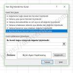 Excel'de Koşullu Biçimlendirme Satırda En Küçük ve En Yüksek Değerleri Renklendirme 4