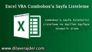 Excel de Sayfa İsimlerini UserForm Üzerindeki ComboBox da Listeleme ve Seçme 2