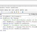 Excel VBA (Makro) - Find (Bul) ve FindNext (Sonrakini Bul) Tüm Detaylarıyla Kullanımı 14